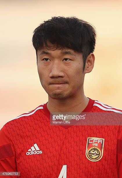 A portrait of Rong Hao of China during the Asian Cup Qualification match between China and Iraq at the AlSharjah Stadium on March 5 2014 in Sharjah...