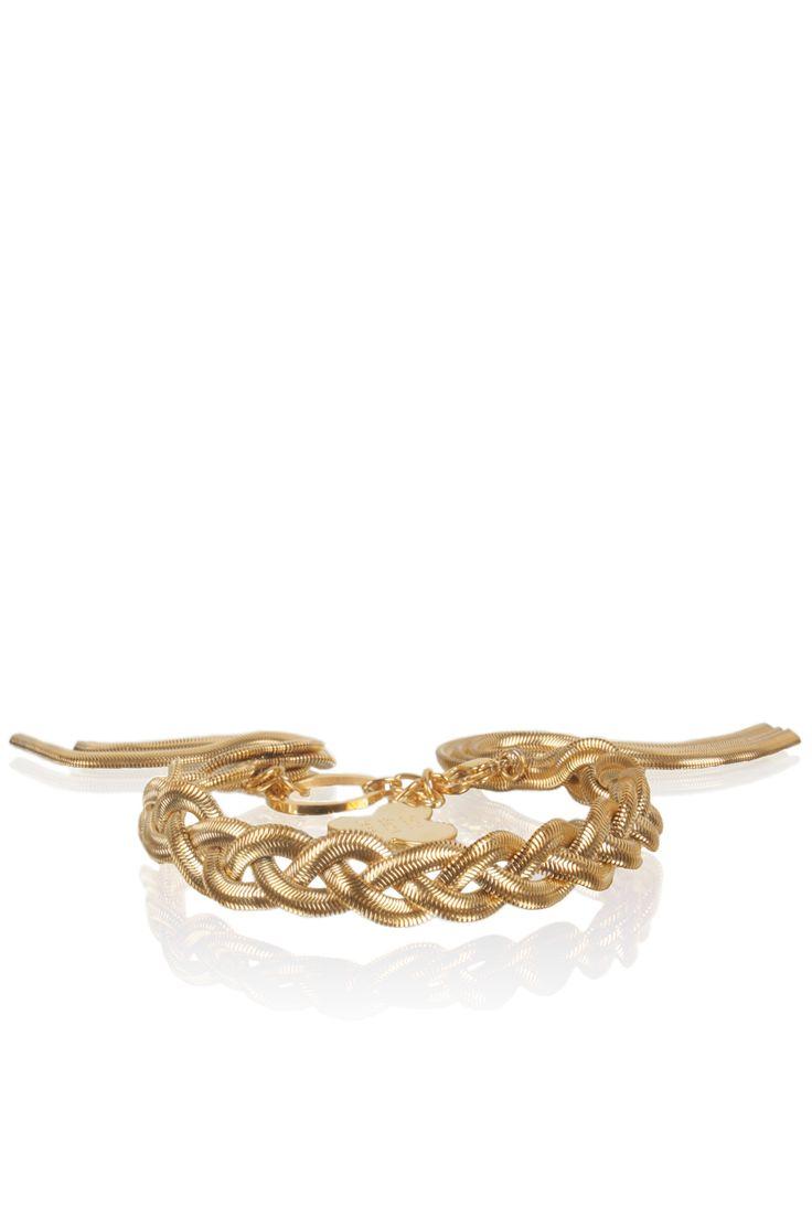 Wow gorgeous!  Bracelet Braided   gold from Juli dans Jewels seen on www.littlesoho.com