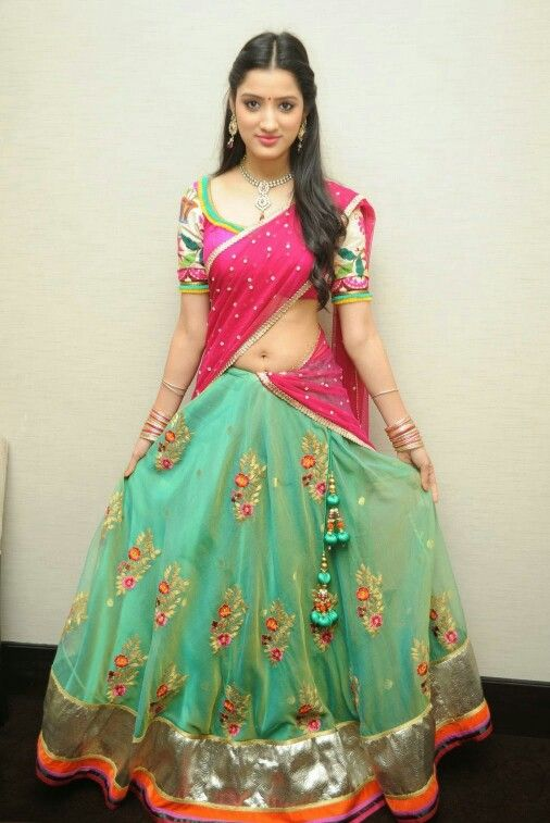 half saree traditional Indian style