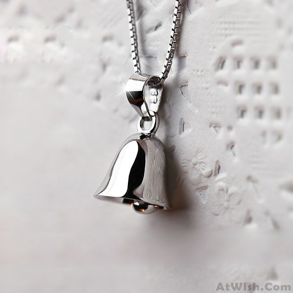 Wow~ Awesome Original Sterling Silver Jingle Bells Pendant Clavicle Necklace! It only $30.99 at www.AtWish.com! I like it so much<3<3!