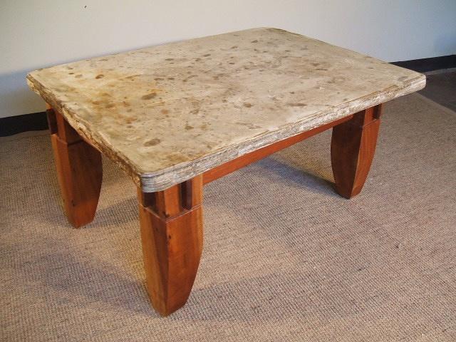 Mesa con plancha de piedra laja mesas y consolas - Lajas de piedra ...