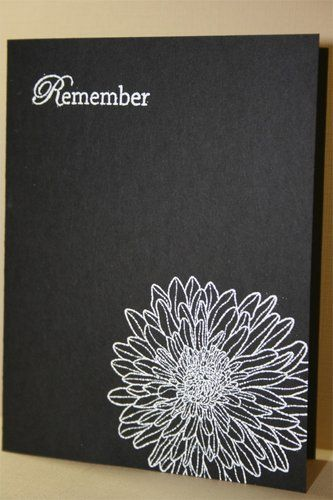 handmade card ... black with white print ... clean and simple ... sympathy card ...卡片的靈感來源 - 好心藝(Created With Love) - Yahoo!奇摩部落格