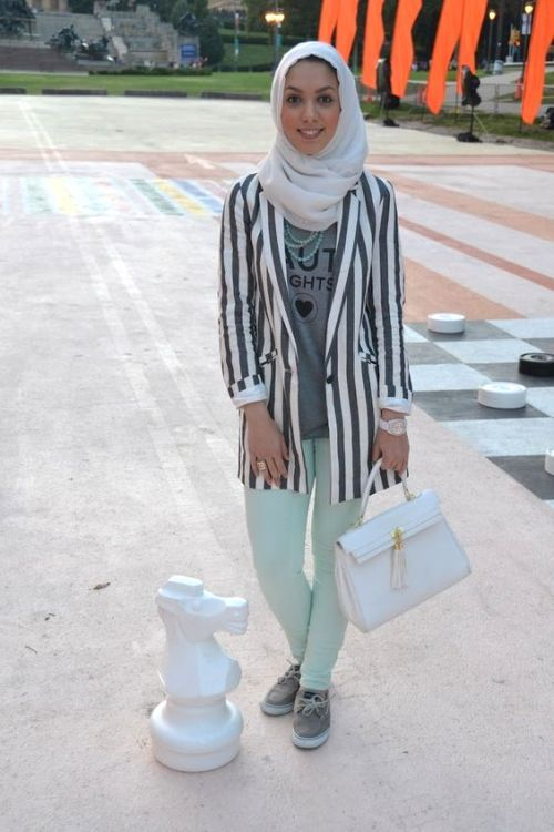 How to wear stripes with hijab – Just Trendy Girls