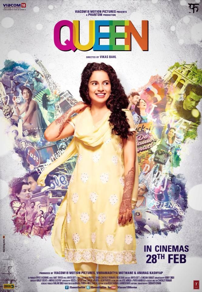 Queen is a 2014 Bollywood coming-of-age comedy-drama. The film's story is about a middle class Indian girl in Rajouri Garden, Delhi, who decides to go on her honeymoon to Paris and Amsterdam alone, after her fiancé walks out of the marriage two days before wedding.