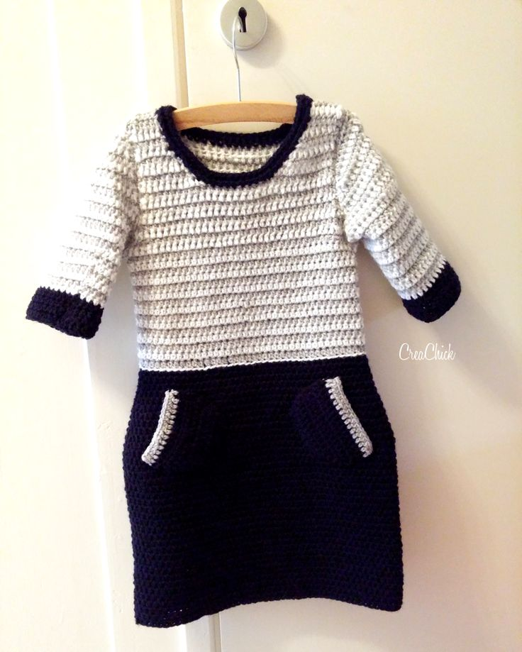 Crochet kids dress. Free pattern. Kinderjurk haken. Gratis patroon.
