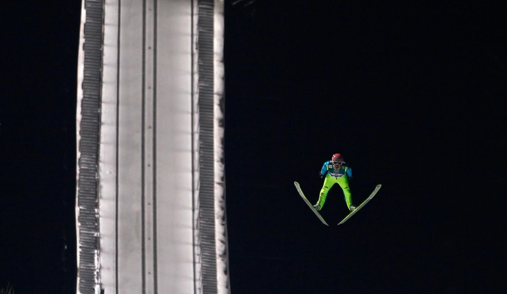 Ski-jumping. Only for the brave.