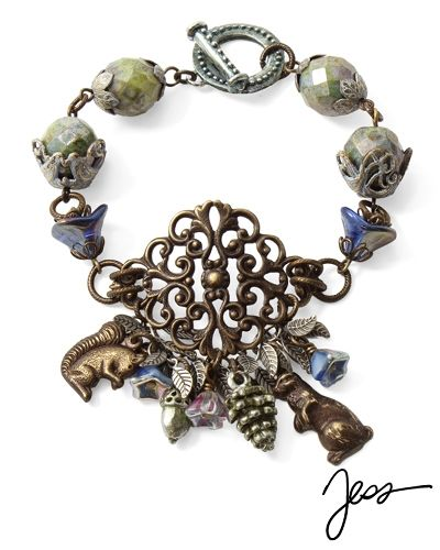 Woodland Winter by Jess Italia Lincoln using beads from our Online Bead Partner @bello Modo & Vintaj!