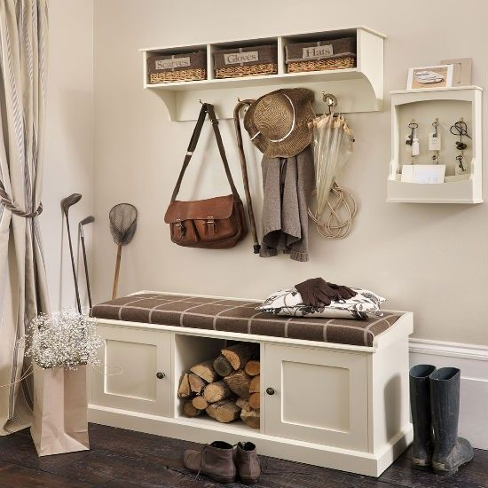 Storage bench and shelf from The Dormy House | Hallway storage | Hallway | PHOTO GALLERY | Ideal Home | Housetohome