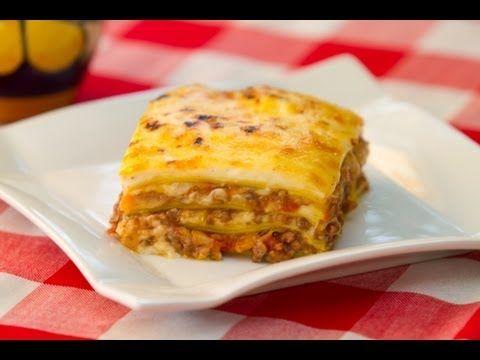 ▶ Receta Completa Lasaña Boloñesa o Lasagna Bolognese, Bechamel y Salsa Boloñesa - YouTube