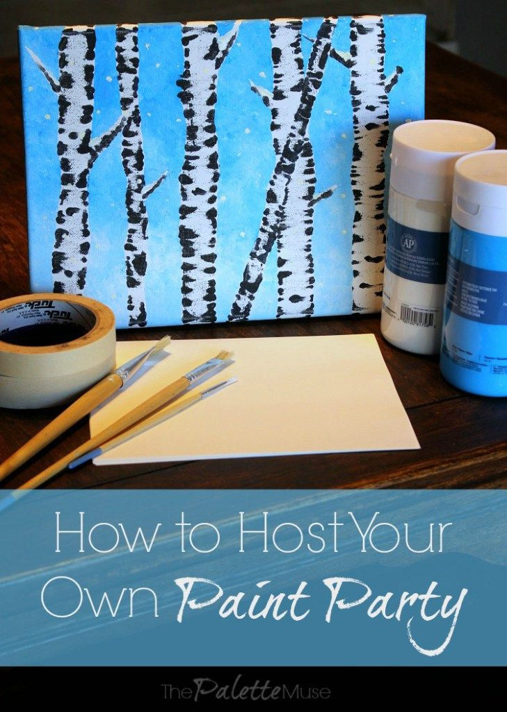 Paint-n-Sip, Canvas and Coffee...they go by different names, but painting parties are all the rage. See how to host your own, even if you're not an artist!