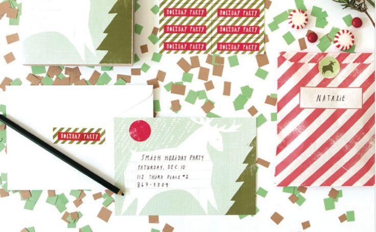 yellow owl workshop, enveloppes, cartes, voeux, merry chrismas, noël, happy christmas, joyeux noël