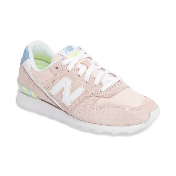 Women's New Balance '696' Sneaker found on Polyvore featuring polyvore, women's fashion, shoes, sneakers, sunrise, new balance, suede shoes, new balance trainers, suede sneakers and new balance shoes