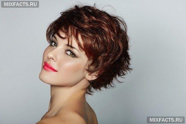 мелирование рыжие перышки на темных волосах