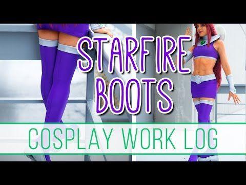 Cosplay Work Log: Starfire Boots + Bracers - YouTube
