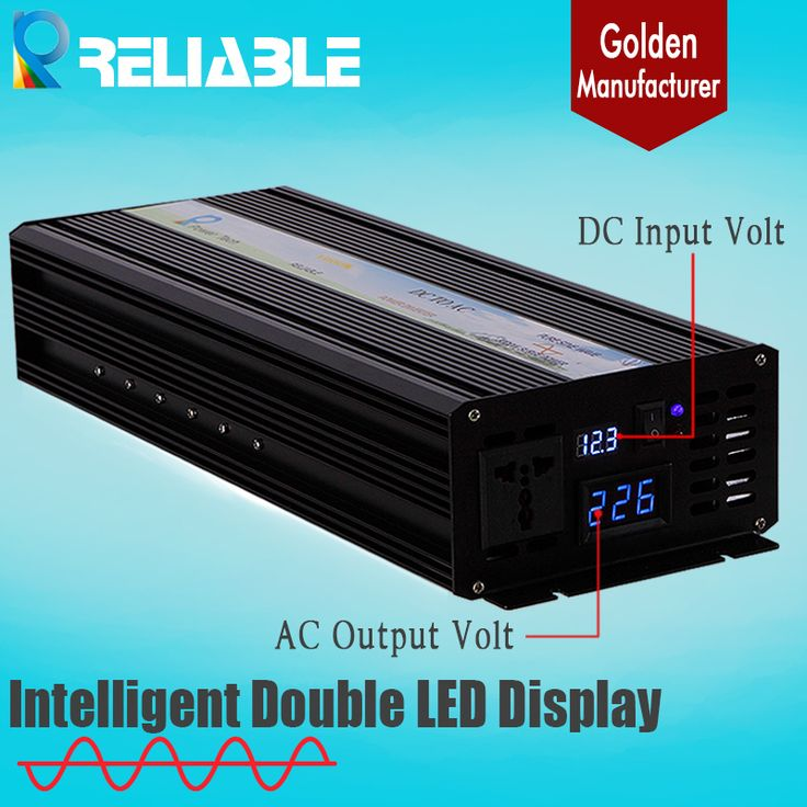 Find More Inverters & Converters Information about 2500W 12/24/48VDC to 100v/120/220/230/240VAC Double LED Display Pure Sine wave Solar Inverter,50Hz Or 60Hz Off Grid Inverter,High Quality solar battery inverter,China solar energy inverter Suppliers, Cheap solar power grid inverter from Reliable Electric Power Store on Aliexpress.com