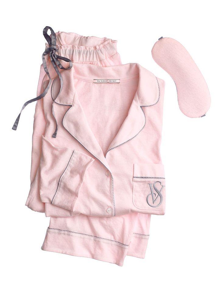 The Sleepover Knit Pajama - Victoria's Secret Color: Angel Pink Size: Large (short)