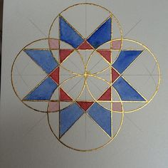 """198 mentions J'aime, 23 commentaires - Jeea Mirza (@jeeamirza) sur Instagram : """"Four fold symmetry. Raised gilding and watercolour. 