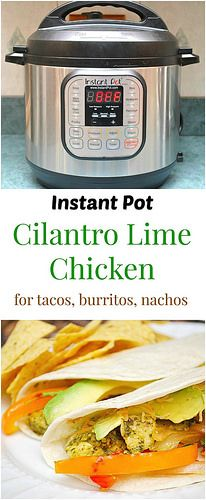 Instant Pot Cilantro Lime Chicken Tacos will definitely make your evenings happier. A quick and easy meal that will make your hectic life so much easier! | What's Cookin, Chicago?