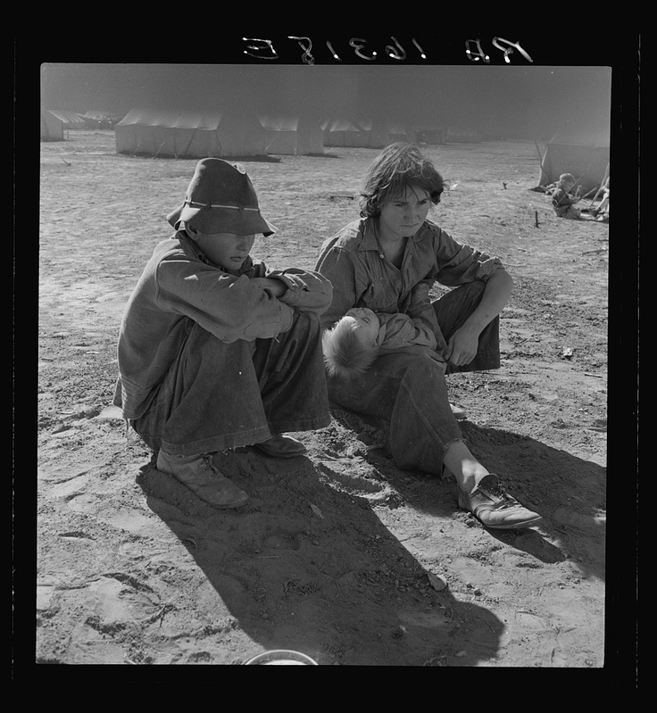 Young Oklahoma mother, age eighteen, penniless, stranded in California. Imperial Valley. 1937 Mar. Library of Congress.