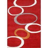 Found it at AllModern - Hand-Tufted Red Area Rug #AreaRugsFavorites #FavoriteAreaRugs
