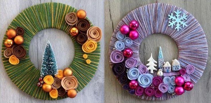Découvrez comment faire une couronne de Noël avec de la laine, du carton, et quelques décorations de votre choix pour parfaire la finition de votre couronne. C'est donc avec 3 fois rien que vous pourrez réaliser une superbe couronne de Noël en laine plus un brin d'imagination et de créativité de...