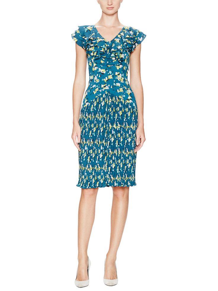 Adelia Floral Print Ruffle Top Dress