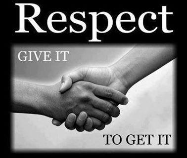 Veel mensen in mijn omgeving denken dat ik meteen respect voor ze heb. Mijn respect krijg je niet zomaar, deze moet je echt verdienen. Helaas begrijpen heel veel mensen dat niet.