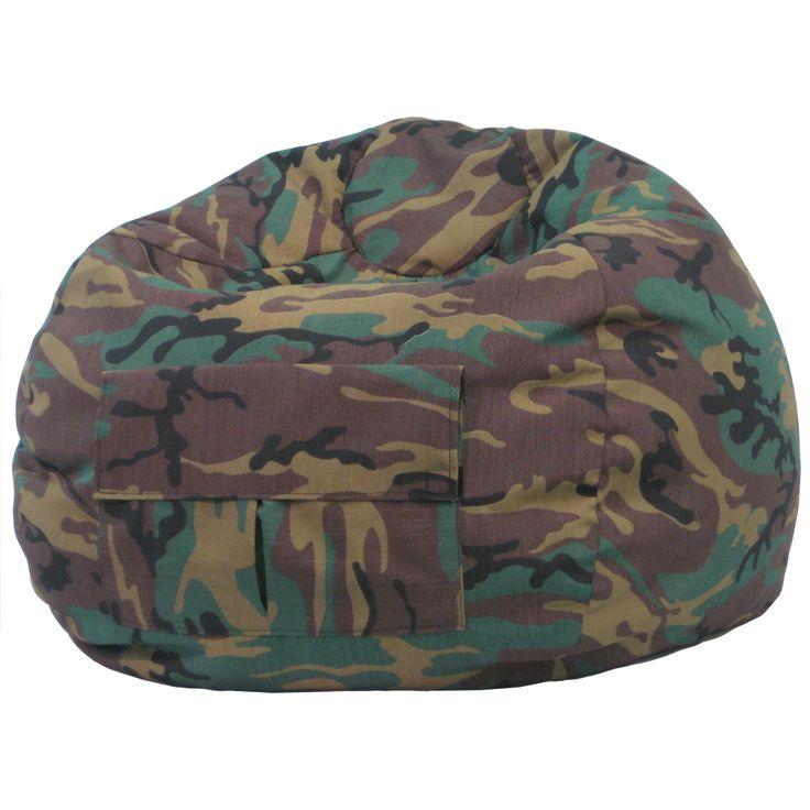 Gold Medal Cargo Pocket Camouflage Denim (Blue) Look Medium/ Tween Bean Bag (Medium/Tween Denim Look Bean Bag/Cargo Pocket)