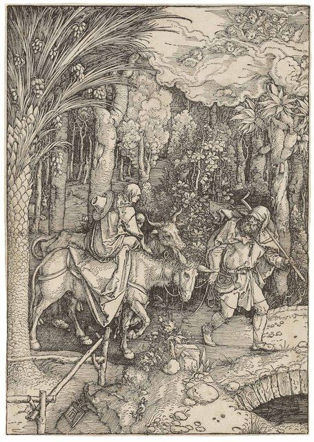 Albrecht Dürer, 'The Flight into Egypt, from: The Life of the Virgin (B. 89; M., Holl. 201; S.M.S. 179),' ca. 1504, Christie's Old Masters