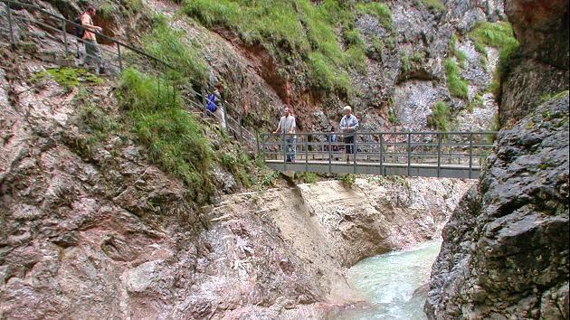 Die Almbachklamm in den Berchtesgadener Alpen
