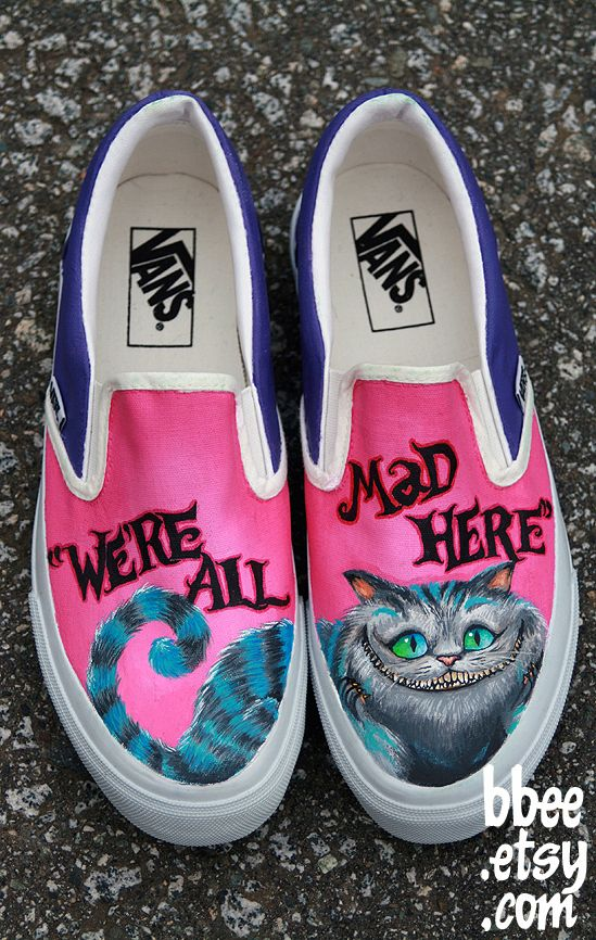 Community Post: 50 Unique And Wonderfully Geeky Hand-Painted Shoes love the Alice In Wonderland Shoes have to find them