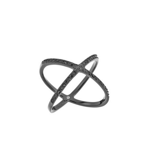 Cheap MK Outlet Online & MICHAEL KORS Black-Tone Pavé Ring
