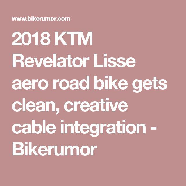 2018 ktm lisse. brilliant 2018 2018 ktm revelator lisse aero road bike gets clean creative cable  integration  bikerumor for ktm lisse