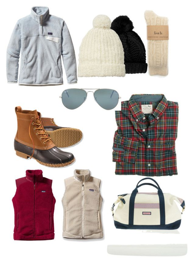 Winter packing list by horsebackride on Polyvore featuring polyvore, fashion, style, J.Crew, Patagonia, L.L.Bean, Vineyard Vines, Scotch & Soda, Ray-Ban and Topshop