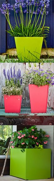 Colorful Garden Patio Planters Container Gardening Pinterest Patio Planters Planters