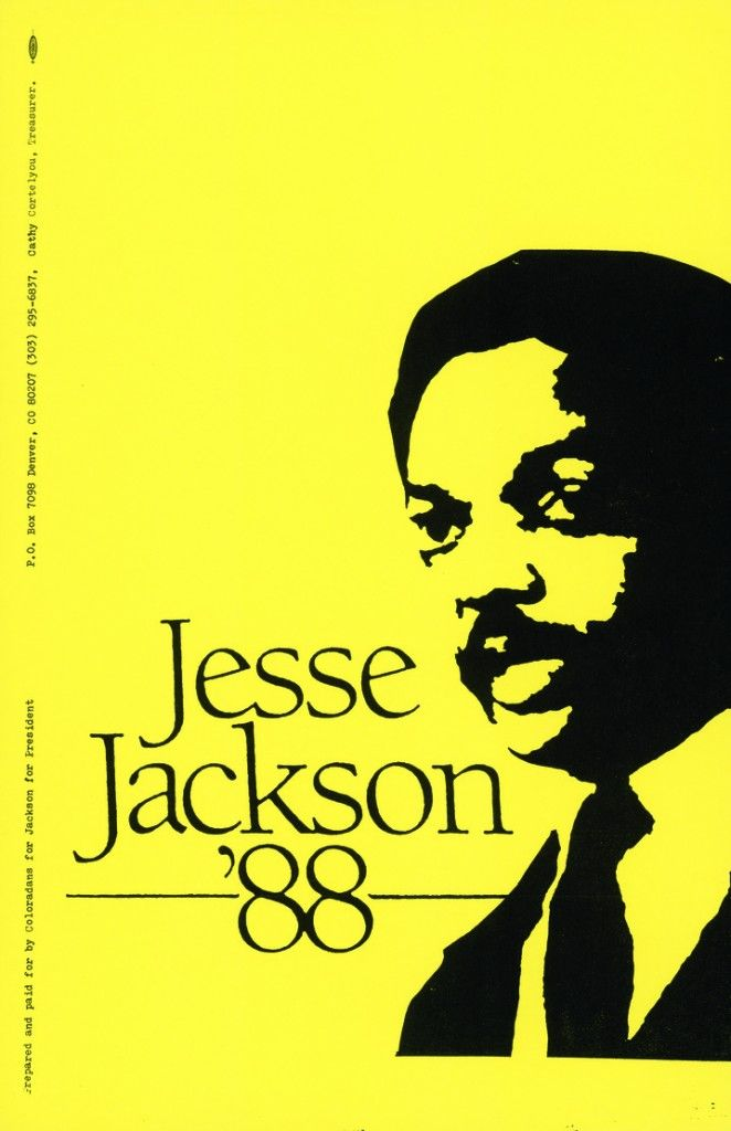 """In the 1988 Presidential Election, Jesse Jackson Exceeds Expectations in His Second Bid for the Democratic Nomination"""