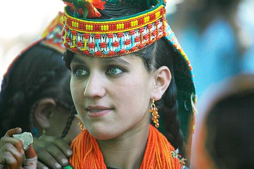 A Kalash women - Believed to be The Lost Tribe of army of Alexander the Great, Pakistan.