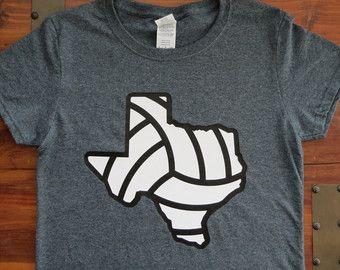 Volleyball Shirt, Texas Volleyball Shirt, Glitter Volleyball Shirt, Girls Volleyball Shirt, Women's