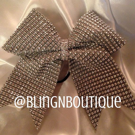 Shine Bright  Rhinestone Bling Cheer Bow by BlingNBoutique on Etsy, $15.00