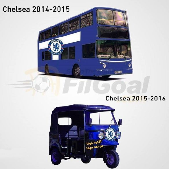 Z nowoczesnego autokaru w małą autorikszę • Śmieszne przemiana Chelsea Londyn • The Blues kiedyś i teraz • Zobacz śmieszny obrazek >> #Chelsea #funny #football #soccer #sports #pilkanozna