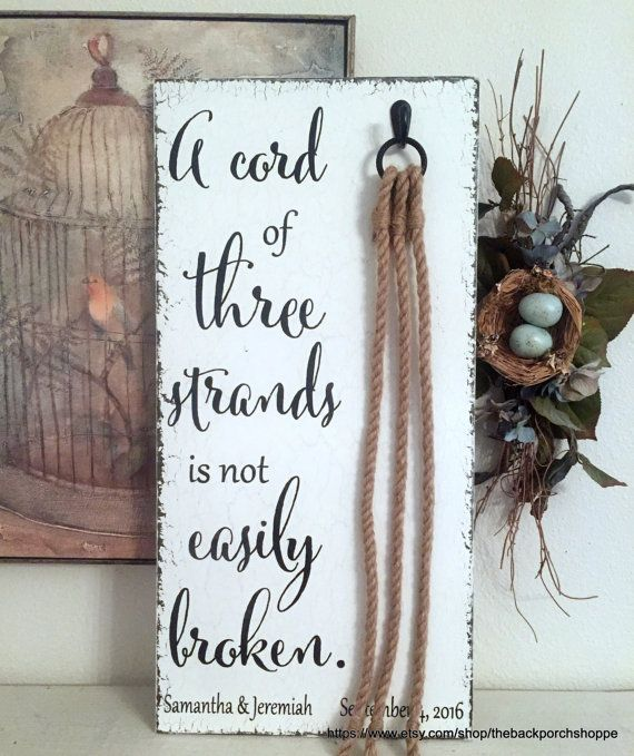 Unity Candle Alternative CORD of THREE by thebackporchshoppe