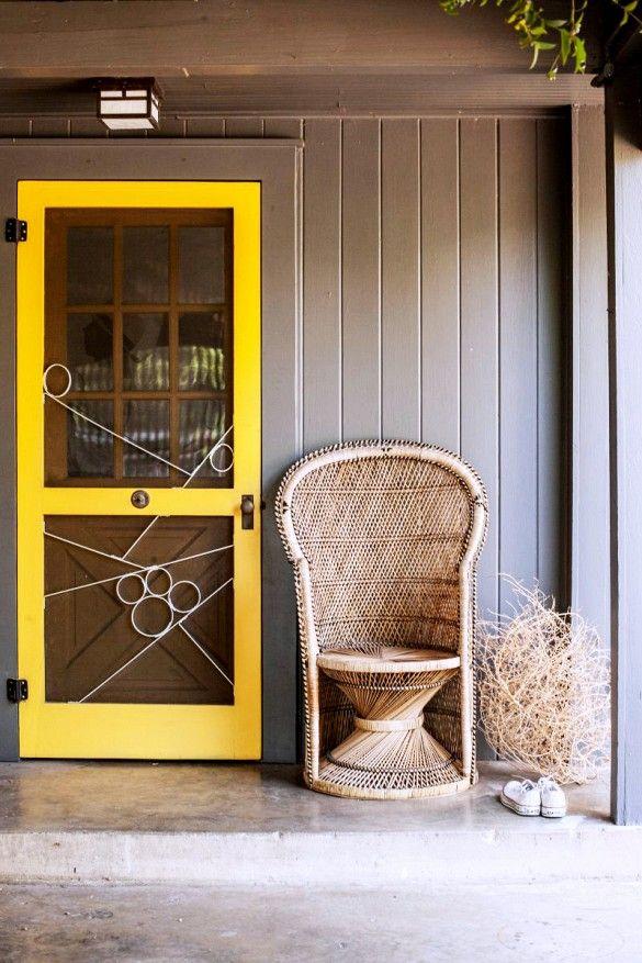 Bright yellow screen door frame s u m m e r h o u s e for Screen door frame