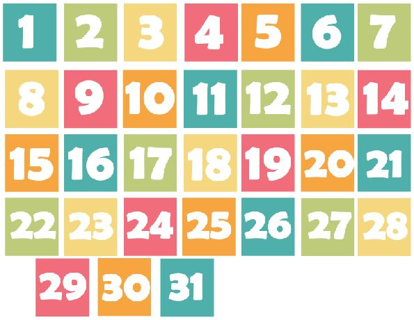 Calendar Numbers Clipart : Best images about verylegendaryee printables on