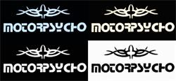 THE MOTORPSYCHO PRINT RANGE- WHITE, CYAN HUE & SEPIA HUE (FOR BLACK SHIRTS) BLACK (FOR WHITE & GREY SHIRTS)