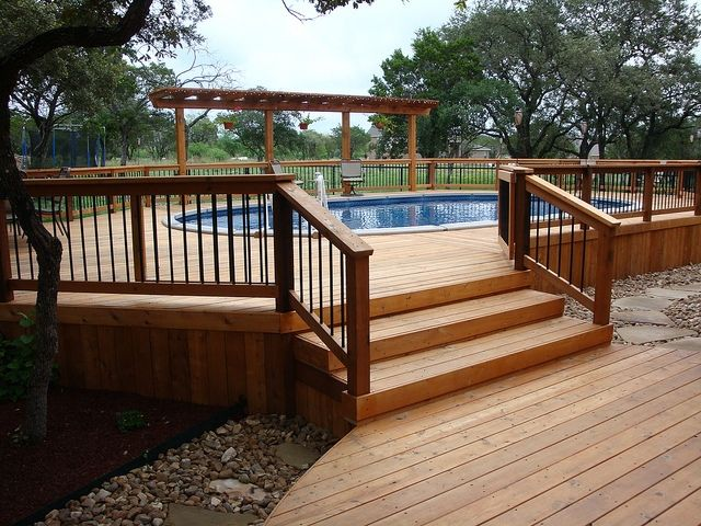 cool above ground pool decks smallhomelover.com