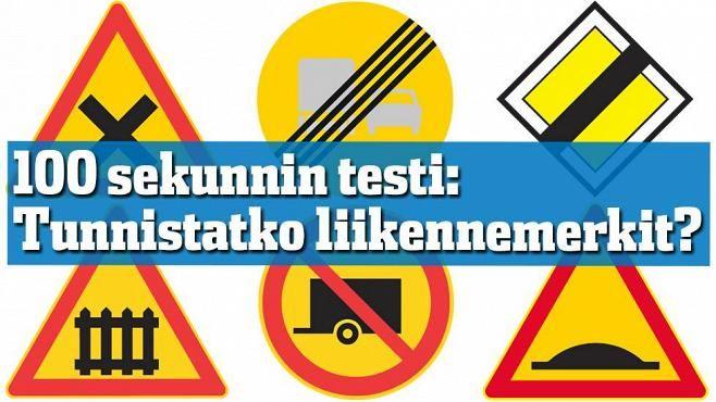 """""""Mihin tästä saa kääntyä?"""" 100 sekunnin testi: Tunnistatko liikennemerkit - Autot - Ilta-Sanomat"""