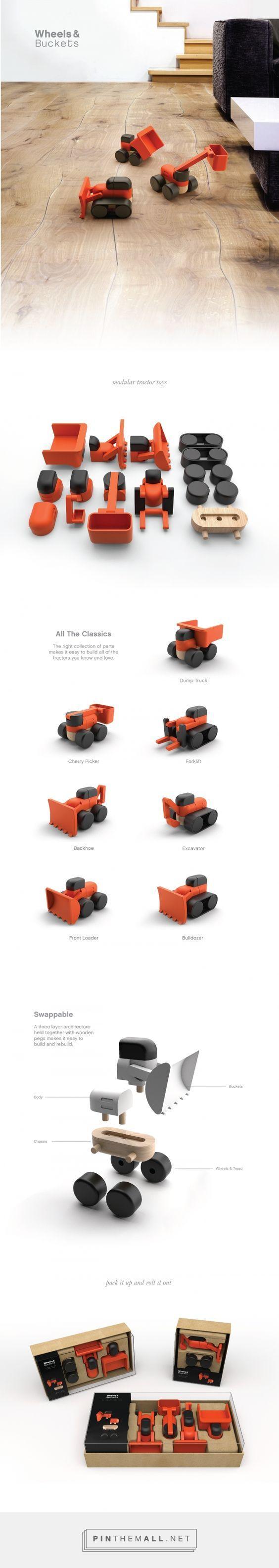 Industrial design, toy design and packaging for Wheels & Buckets on…: