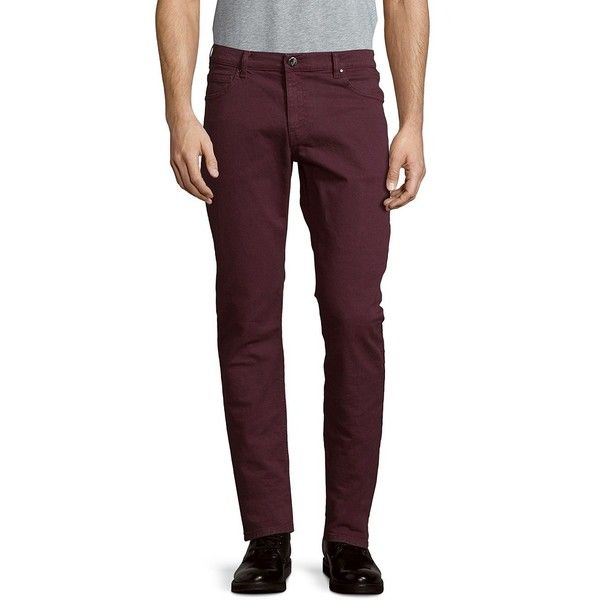 Versace Collection Pantalone Cotton Jeans ($110) ❤ liked on Polyvore featuring men's fashion, men's clothing, men's jeans, versace mens jeans, mens tapered jeans, mens zipper jeans, mens cotton jeans and mens jeans