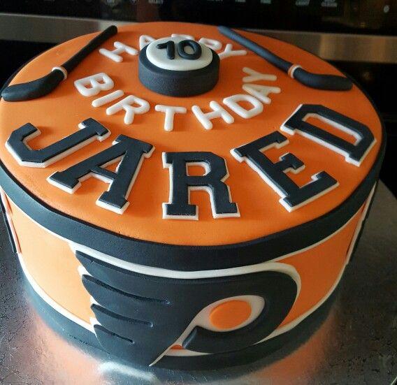 Philadelphia hockey birthday cake. Go Flyers!!!