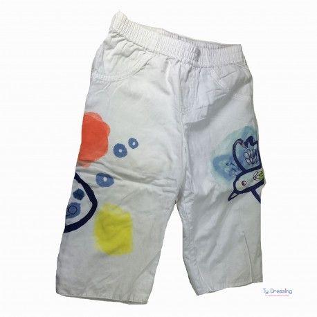 pantalon catimini mois blanc